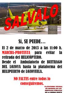SALVAR EL HELICOPTERO DE LOZOYUELA